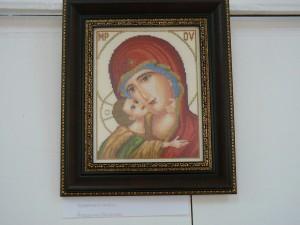"""Изложба гоблени- """"Иконата – духовна ценност в семейството"""""""